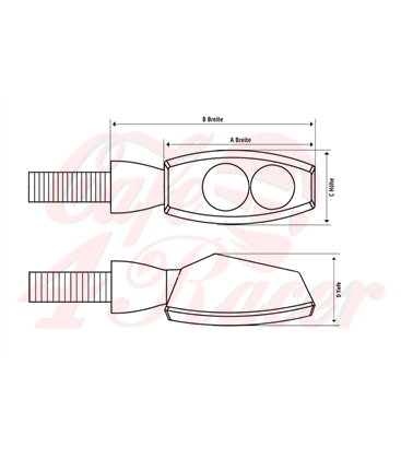 Motogadget 3in1 indicator m-Blaze EDGE, rear right, chrome