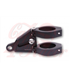HIGHSIDER CNC alu headlamp bracket set EXTEND, adjustable in length, black 35-54mm