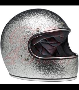 Biltwell Gringo ECE Helmet Brite Silver MF