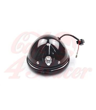 "5-3/4 5.75"" Headlight  housing black - bottom mount"