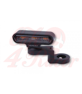 HIGHSIDER LED indicator with CNC mirror mounting TYPE 2, black