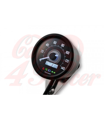 DAYTONA VELONA2 digital speedometer  black housing, 140 km/h