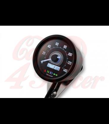 DAYTONA VELONA2 digital speedometer,  Ø 60mm,  black housing, 260 km/h