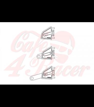 HIGHSIDER CNC alu headlamp bracket set EXTEND, adjustable in length, black 35-54mm