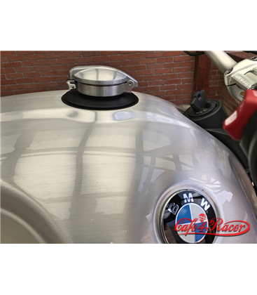 BMW R nine T fuel caps BLACK monza style brushed
