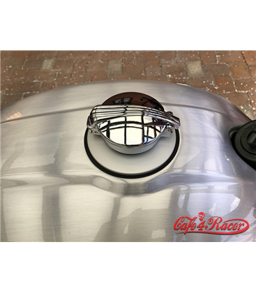 BMW R nine T fuel caps SILVER monza style polished