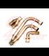 Exhaust K100  CR II  header pipes + muffler