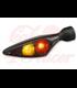 Kellermann Smerovka / zadneé svetlo Micro Rhombus DF, čierna, dymová šošovka, ľavá