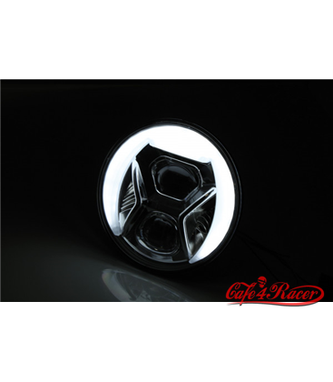 HIGHSIDER  7 inch LED main headlamp insert TYPE 8 black