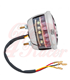 Miller/Vincent Classic STOP - Taillight Unit - Polish STAINLESS Housing - LED