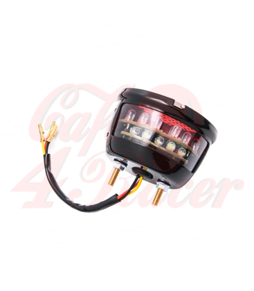 Miller/Vincent Classic STOP - Taillight Unit - Black STAINLESS Housing - LED