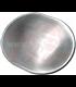 Aluminium, Oval, Domed with Beading