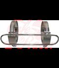 Exhaust heat shield, Scrambler style
