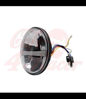 "7"" / 17,8cm Harley Headlight Led Headlamps insert black DRL"