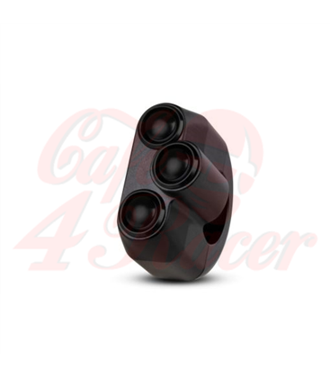 "Rebel tlačidlo 3 button – čierny 22mm 7/8"""