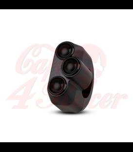 "Rebel tlačidlo 3 button – čierny 25,4mm 1"""
