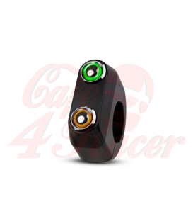 Rebel tlačidlo 2 button LED – čierny 22mm 7/8""