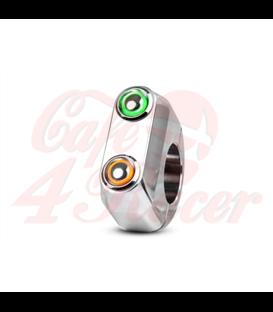 "Rebel tlačidlo 2 button LED – leštené 22mm 7/8"""