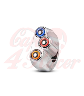 "Rebel switch 3 button LED – Polished 22mm 7/8"" Handlebar"