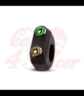 "Rebel switch 2 button LED – Black- 25,4mm 1"" Handlebar"