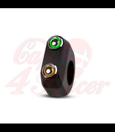 "Rebel tlačidlo 2 button LED – čierny 25,4mm 1"""