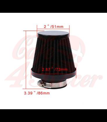 Round clamp  54mm black