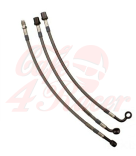 JMP Front brake line LINE for  K75/K100/K1100 silver 3pcs set NO ABS