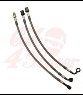 JMP Predná brzdová hadica pre K75/K100/K1100 strieborná set 3ks bez ABS