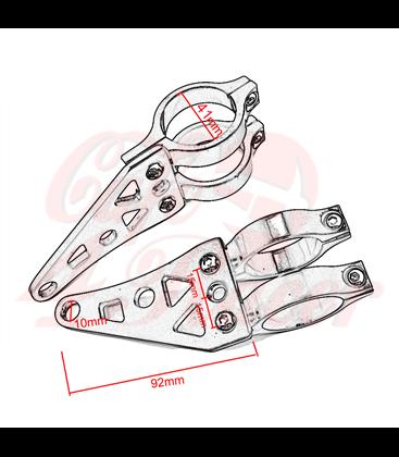 Headlight holder 41mm chrome