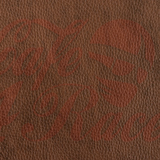 Dark brown synthetic leather DBR