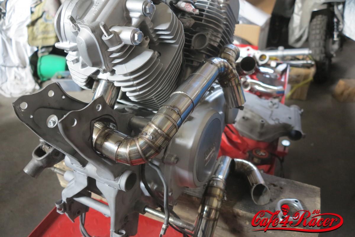 Custom Exhast For Yamaha Xv500 Virago Cafe Racer Project